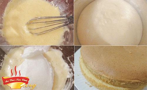 Các bước làm nhân bánh kem