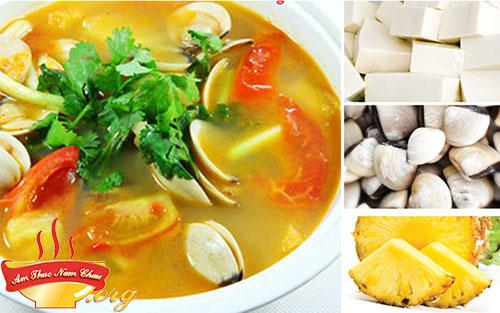 Cách nấu canh ngao rau răm công thức 2