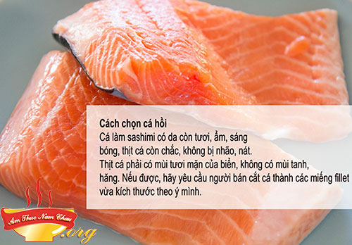 Nguyên liệu làm sashimi nhật bản