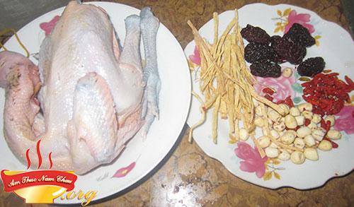 Nguyên liệu làm gà hầm ngải cứu thơm ngon