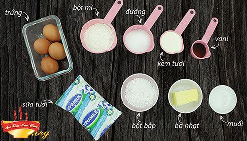 Nguyên liệu làm nhân bánh kem