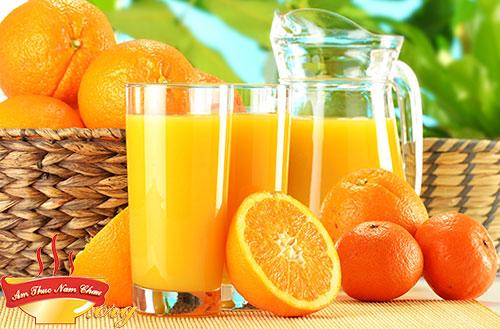 Hoàn thành cốc sinh tố cam ngon tuyệt
