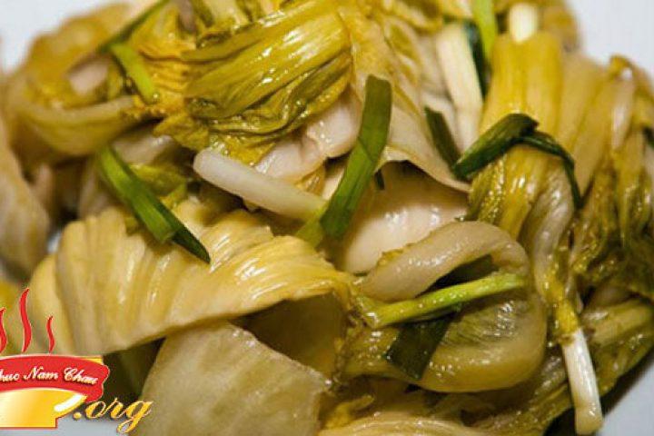 Cách muối dưa cải chua vàng thơm ngon không bị khú