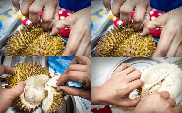 Chế biến sầu riêng là một phần quan trọng trong cách làm bánh crepe sầu riêng