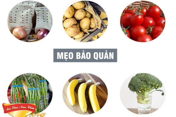 Cách bảo quản trái cây, rau xanh, các loại củ luôn tươi ngon