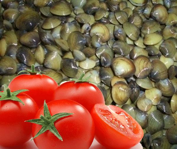 Nguyên liệu nấu món canh hến nấu cà chua