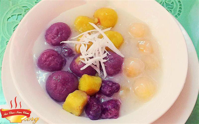 Cách nấu Chè khoai dẻo ngọt, thơm bùi cho ngày mưa