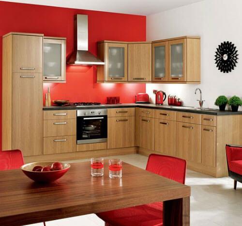 Trang trí nội thất nhà bếp đẹp bằng điểm nhấn màu sắc