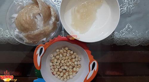 Nguyên liệu làm tổ Yến chưng đường phèn hạt sen