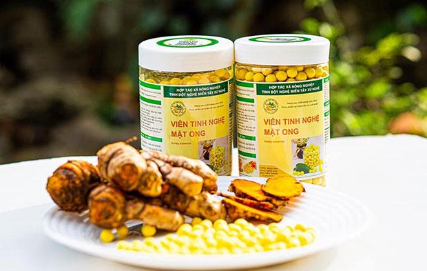 Viên nghệ mật ong cao cấp, chất lượng chuẩn chỉnh 100%